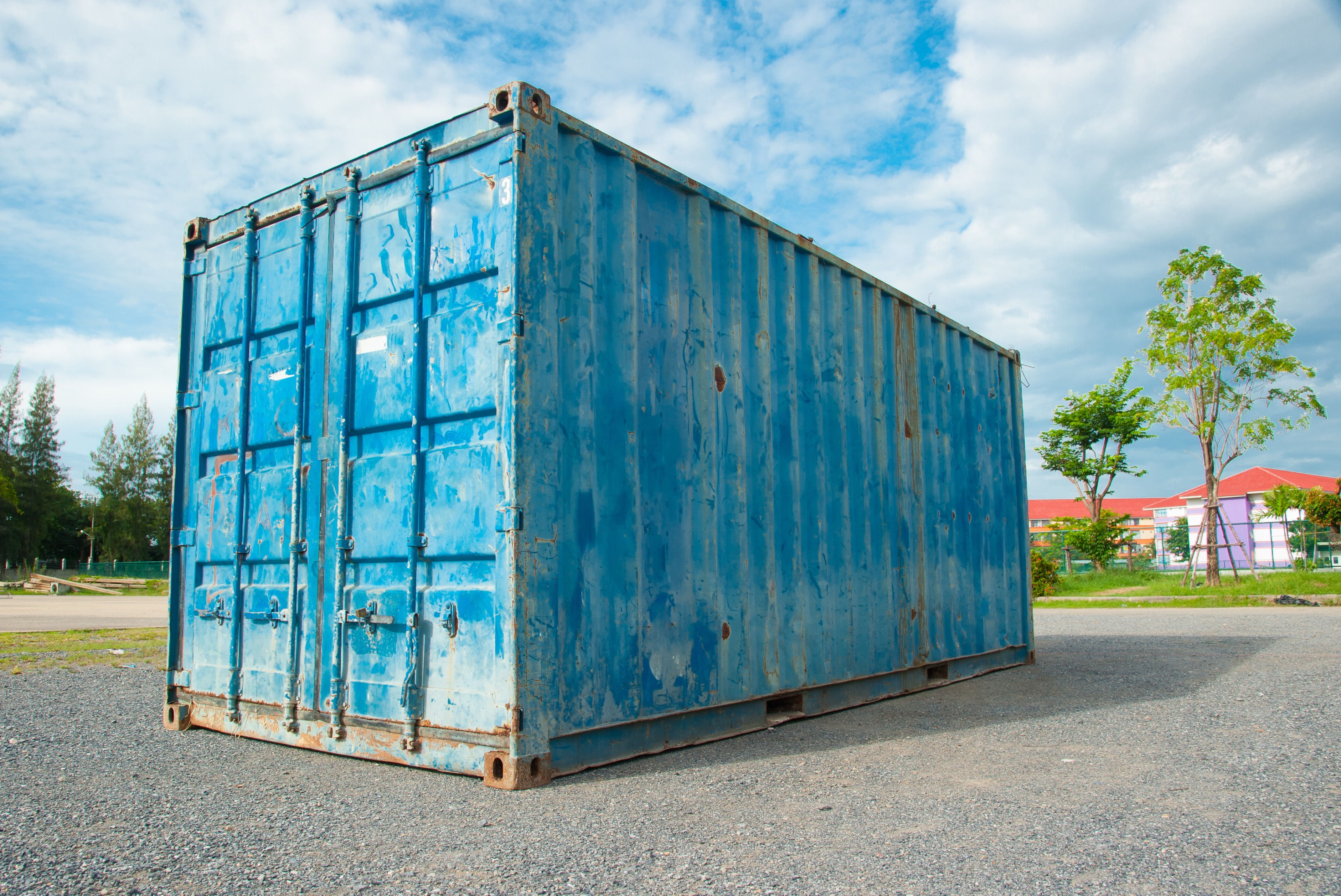 in ground shipping container swimming pool